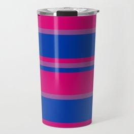 Bi Flag Stripes Travel Mug
