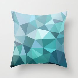 3angle blue Throw Pillow