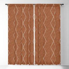 geometric diamonds - ginger Blackout Curtain