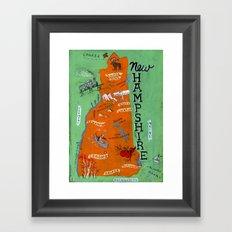 NEW HAMPSHIRE Framed Art Print