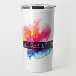 I am child of God. Flower Travel Mug