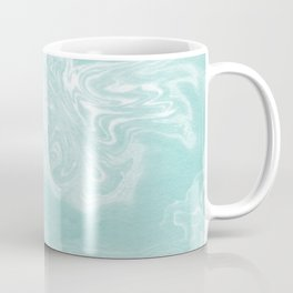 Moki - pastel mint spilled ink japanese watercolor paper marbling marble trendy abstract painting  Coffee Mug