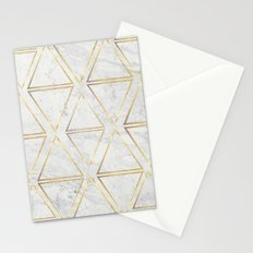 gOld rhombus Stationery Cards