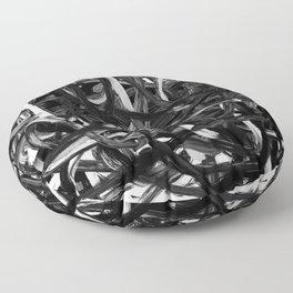 Black & White Abstract III Floor Pillow
