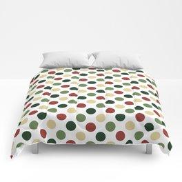 Polka dots - christmas colors Comforters