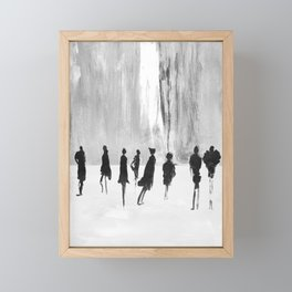 People in the city Framed Mini Art Print