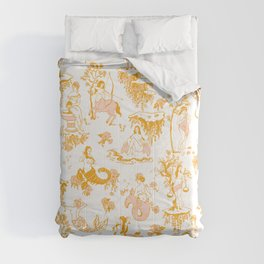 Astrology-Inspired Zodiac Gold Toile Pattern Comforters