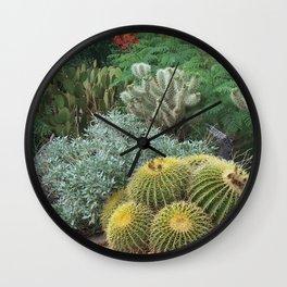 Cactus Garden #1 Wall Clock