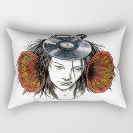 Record Head Rectangular Pillow