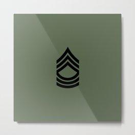 Master Sergeant (Green) Metal Print