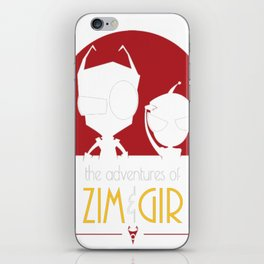 Adventures of Zim _ Gir iPhone Skin