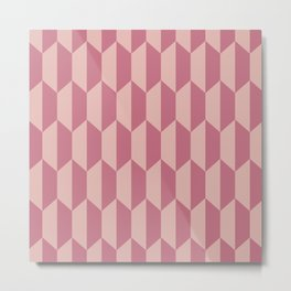 Classic Trapezoid Pattern 235 Dusty Rose Metal Print