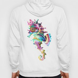 Seahorse , multi colored sea world animal art, design, cute animal art beach Hoody