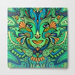Flower elf / Green, blue palette Metal Print