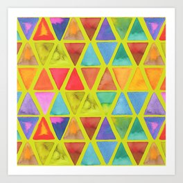 Watercolor Triangle Blends Art Print