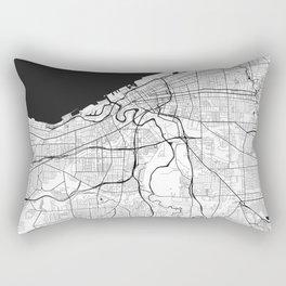 Cleveland Map Gray Rectangular Pillow