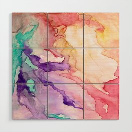 Color My World Watercolor Abstract Painting Wood Wall Art