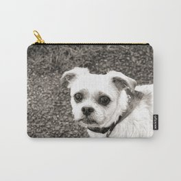 Molly black and white Carry-All Pouch