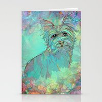 yorkie Stationery Cards featuring Dog Illustration ; Yorkie by Lizzy Zumbaugh