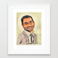 tom selleck Framed Art Prints featuring tom by withapencilinhand