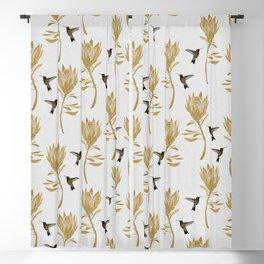 Hummingbird & Flower I Blackout Curtain