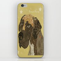 great dane iPhone & iPod Skins featuring the great dane by bri.buckley