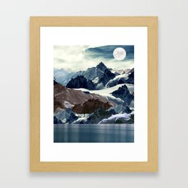 Winter  mountains Framed Art Print
