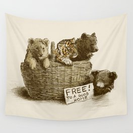 Lions and Tigers and Bears Wall Tapestry