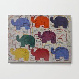 Elephant Karma Metal Print