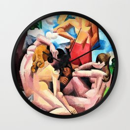 Roger de La Fresnaye - The Bathers - Digital Remastered Edition Wall Clock