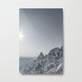 Mountain peaks - Mont Blanc serie 6 - sun kiss Metal Print