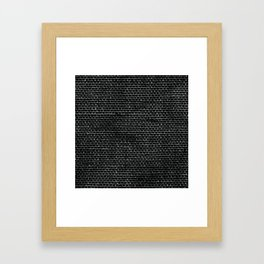 Black Burlap texture  Framed Art Print