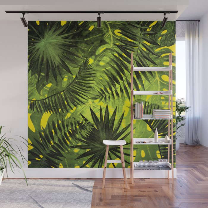 Tropical Leaves Aloha Jungle Garden Wall Mural