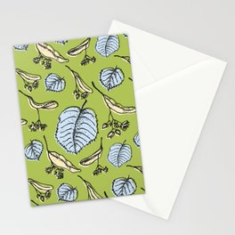 Linden pattern in spring colors Stationery Cards