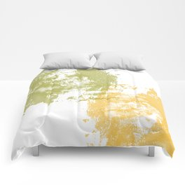 Green and Yellow Paint Patch Comforters