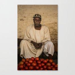Merchant of Omdurman Souq Canvas Print