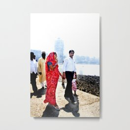 Mumbai Crowds - Haji Ali Mosque - 36 Metal Print