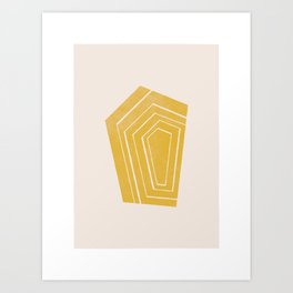Geode II - in Citrine Art Print