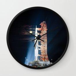 Apollo 17 - Moonlight Launchpad Wall Clock