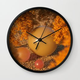 Autumn Feels Wall Clock