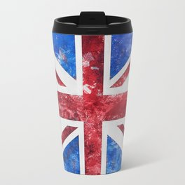 Union Jack Great Britain Flag Grunge Travel Mug