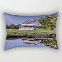 Essex river house reflection Rectangular Pillow
