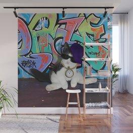 Cat Attitude.....Kitten and Graffiti Wall Wall Mural