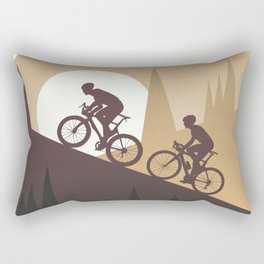 Roadbike Sunset Climbing Rectangular Pillow