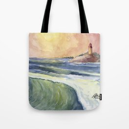 High Tide At Sunset Tote Bag