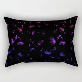 Dandelion Seeds Bisexual Pride (black background) Rectangular Pillow