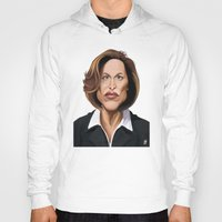 wes anderson Hoodies featuring Celebrity Sunday ~ Gillian Anderson by rob art | illustration