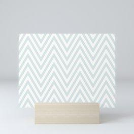 Scandinavian geometric light color pattern design Mini Art Print