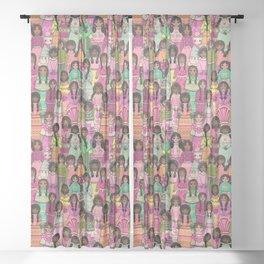 Rag-Doll Cute Sheer Curtain