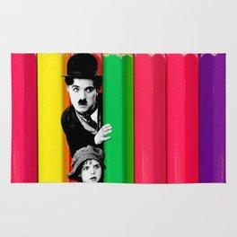 INTROSPENCIL / Pet Shop Boys - Introspective - The Kid Chaplin - Digital Illustration - Pop Art Rug